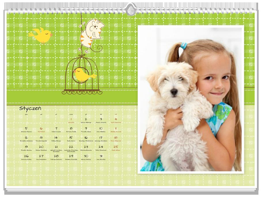 Fotokalendarz Jak pies z kotem
