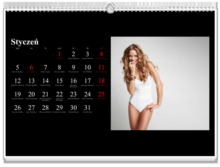 Fotokalendarz Klasyczny czarny