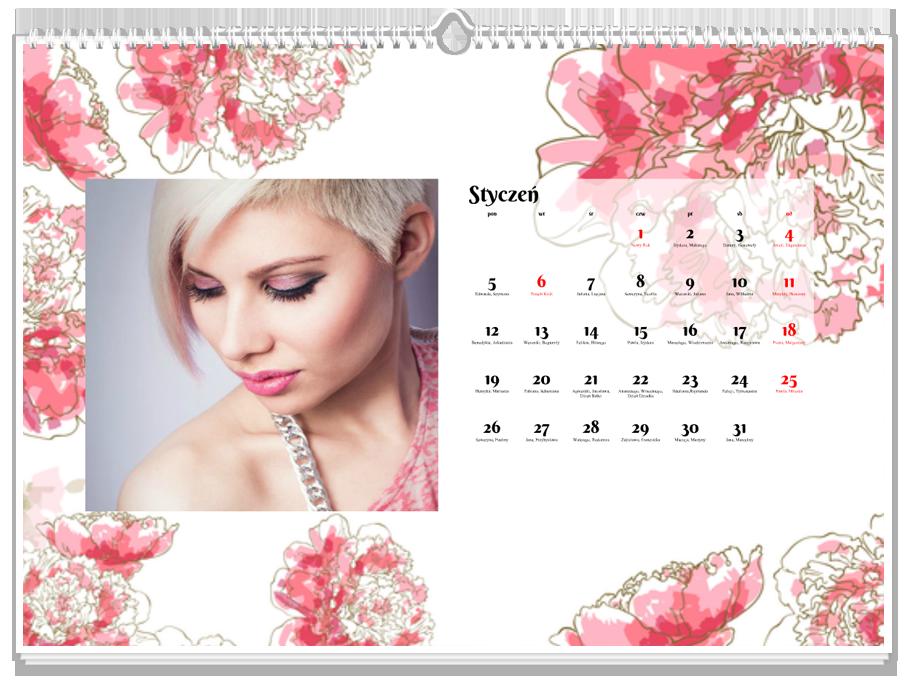 Fotokalendarz Kwiaty