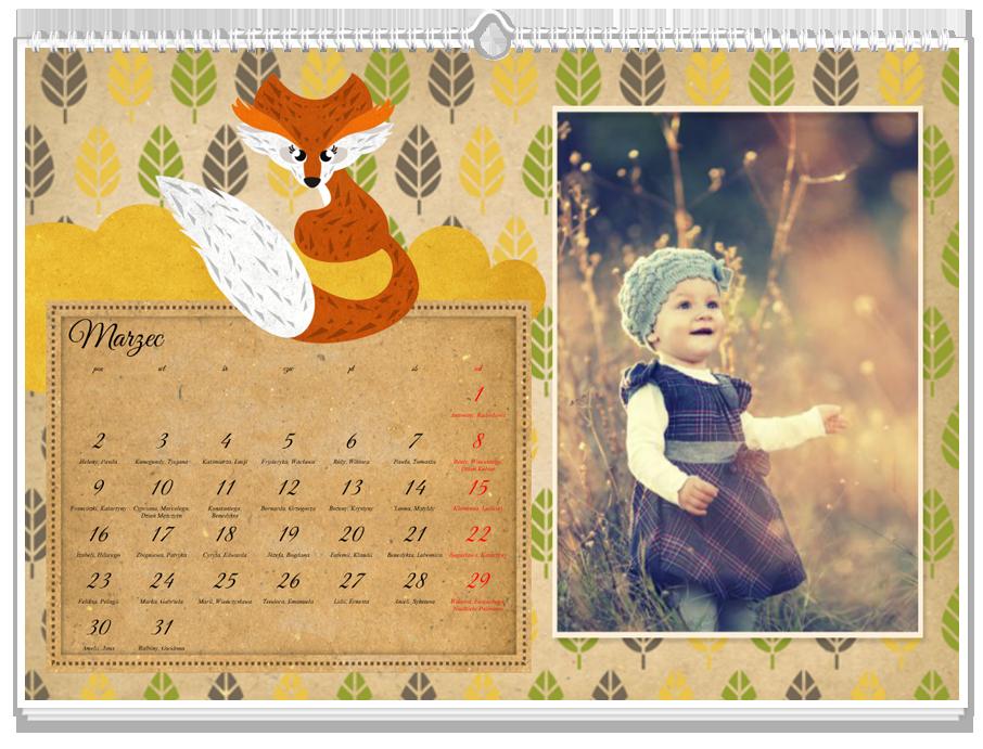 Fotokalendarz Lisek Chytrusek
