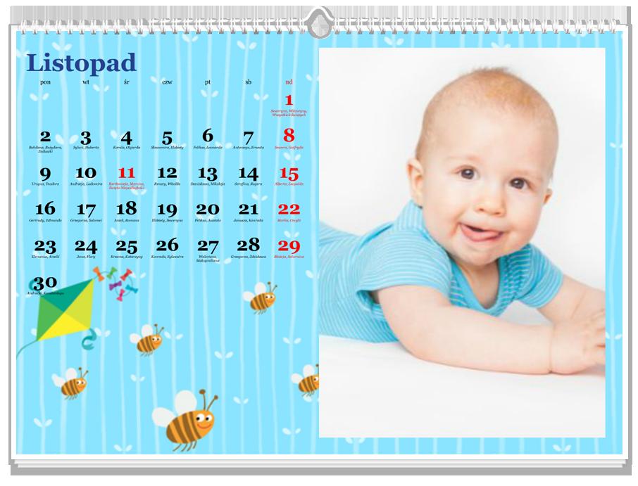 Fotokalendarz Maluch niebieski