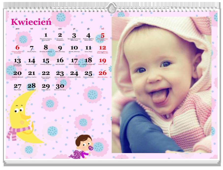 Fotokalendarz Maluch różowy