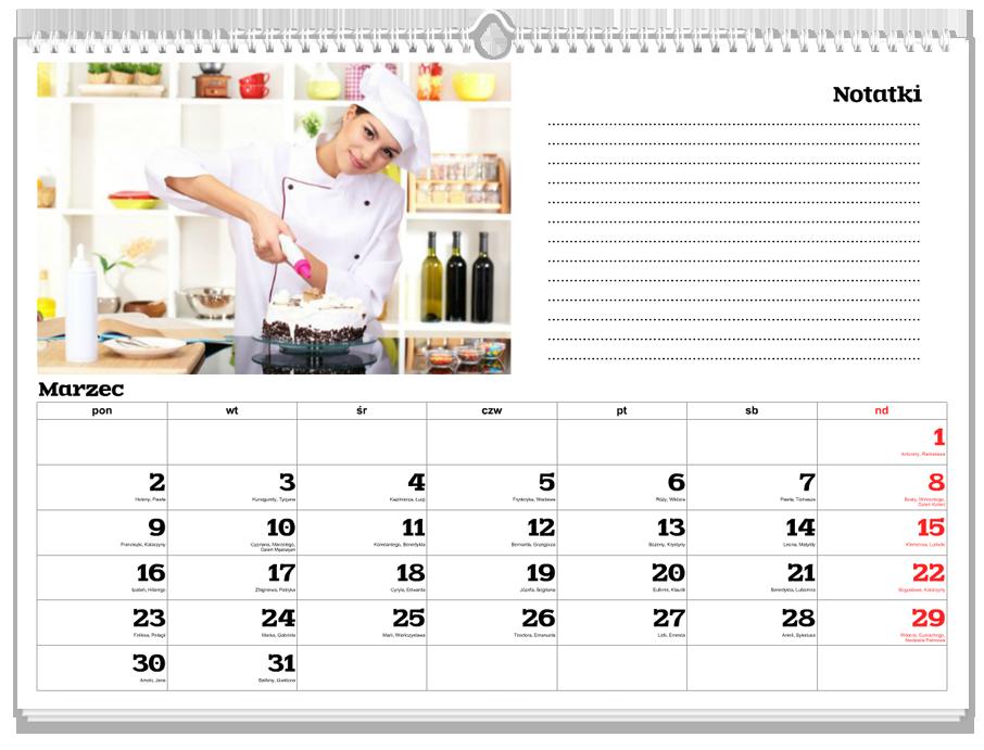 Fotokalendarz Notatnik