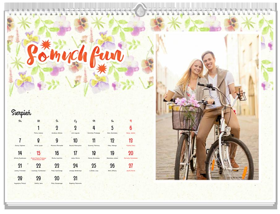 Fotokalendarz Pastelowy floral