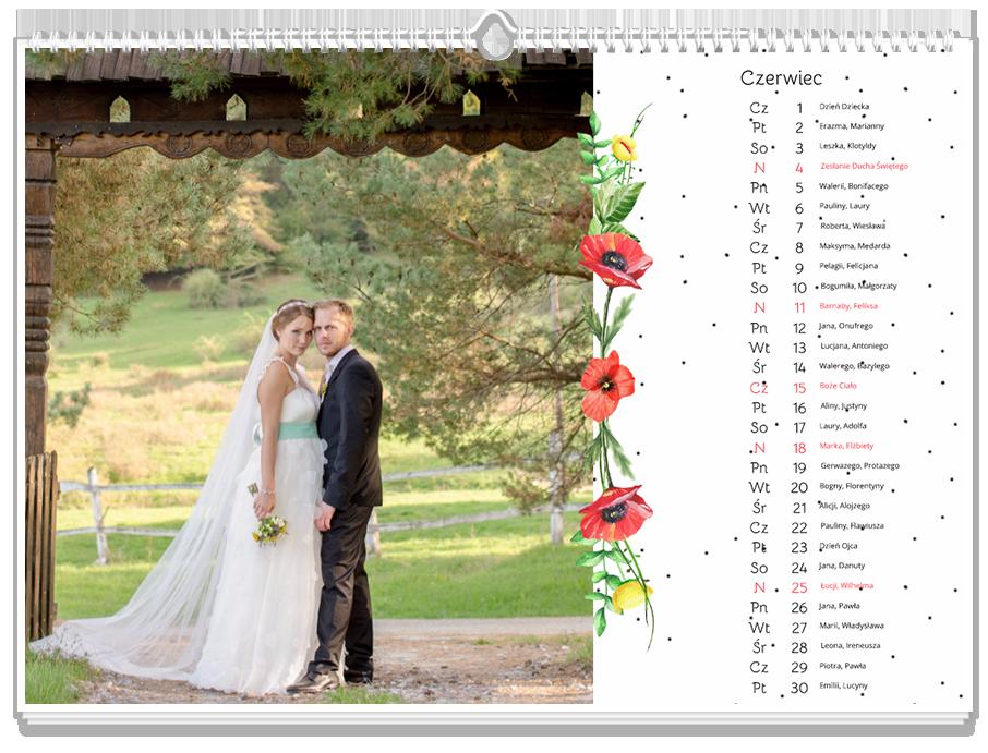 Fotokalendarz Ślubne maki