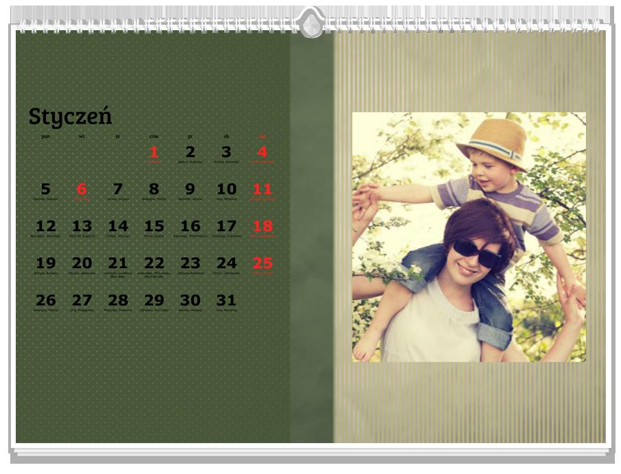 Fotokalendarz Zielony