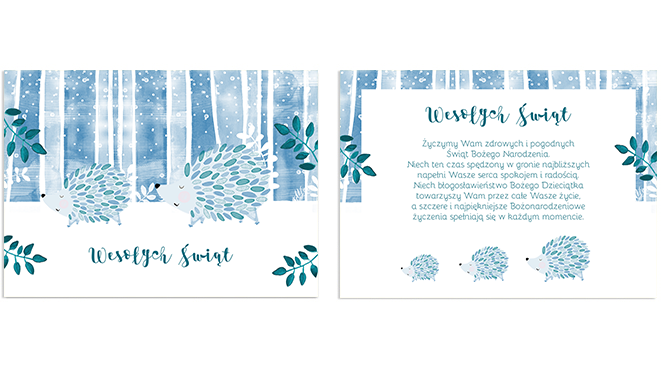 Zimowe jeże