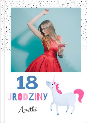 Fotoksiążka 18. urodziny jednorożca