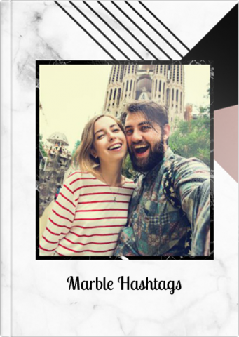 Fotoksiążka Marble Hashtags